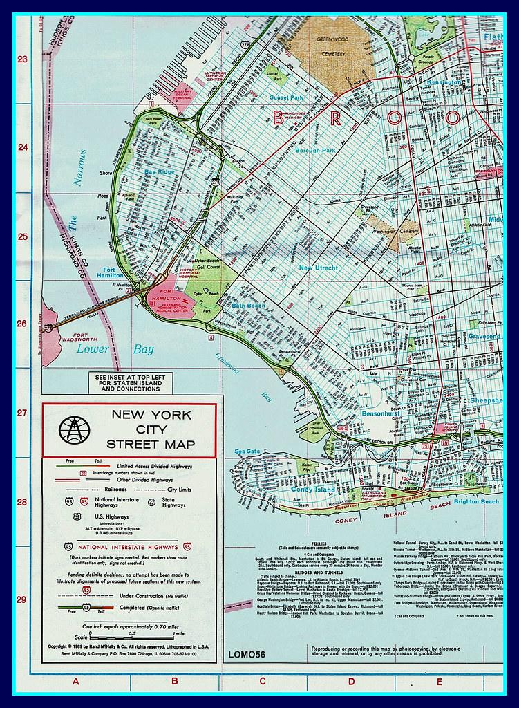 New York City Street Map (USA) | Ausschnitt aus dem Stadtpla ...