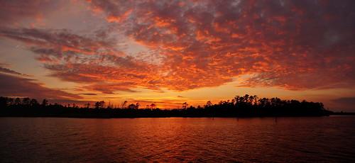 panorama sunset spectacularsunsetsandsunrises cloudsstormssunsetssunrises cloudscape clouds redclouds creek water reflections sonyphotographing sonya58 sony