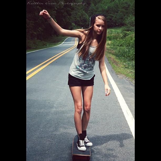 Words... super, teen skater girl consider