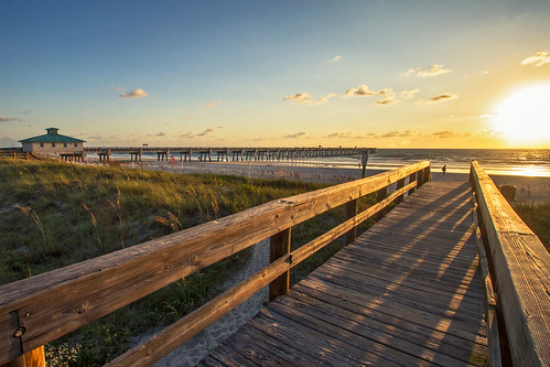 ocean sea usa sun beach canon pier florida 7d jacksonville tamron sunsrise 18270mm agusvalenzphoto