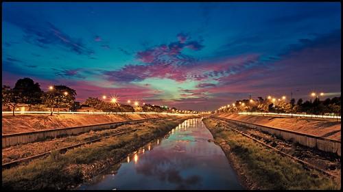 sunset indonesia landscape jakarta bkt ef1740mmf4lusm nightfoto eastjakarta banjirkanaltimur