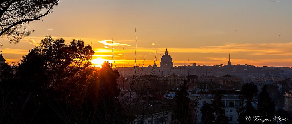 Sunset From Terrazza Del Pincio 3 Roma Lazio Italia Flickr