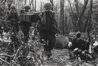 Marines Carry Artillery Rounds, 28 February 1969