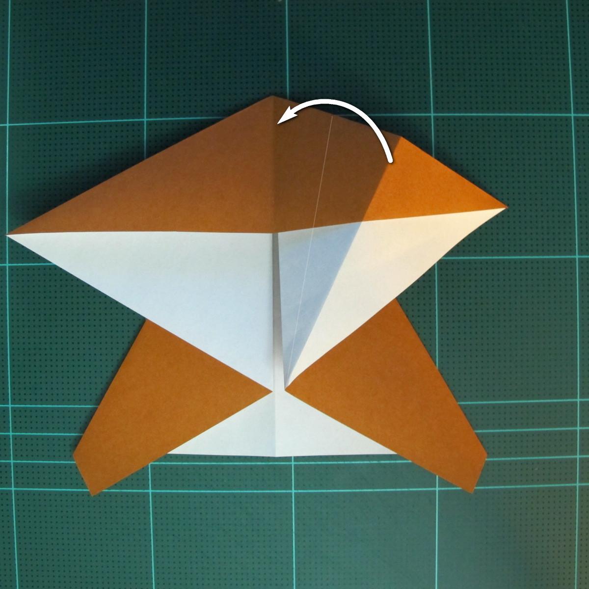 วิธีการพับกระดาษเป็นรูปกบ (แบบโคลัมเบี้ยน) (Origami Frog) 021
