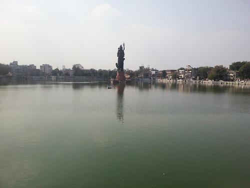 lake day baroda partlycloudy vadodara bholenath shivji sursagar