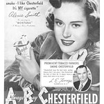 Alexis Smith for Chesterfield, 1949