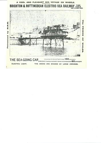 Brighton & Rottingdean Electric Sea Railway 1889 1   by ian.dinmore
