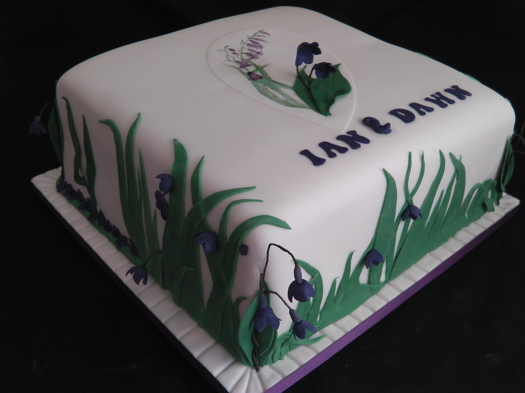 Excellent Bluebell Flower Wedding Cake Mandys Homemade Cakes Flickr Funny Birthday Cards Online Alyptdamsfinfo