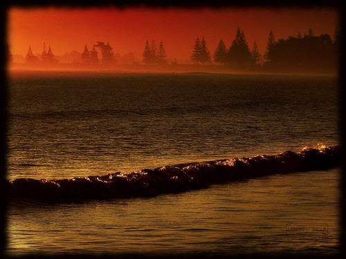 ocean sunset newzealand beach nature water outdoors fuji pacific gimp pacificocean gisborne eastcape 2013 xs1 fujifilmxs1