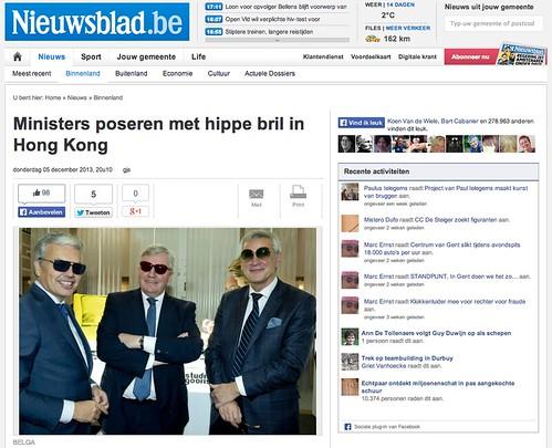 Ministers poseren met hippe bril in Hong Kong | by houbi