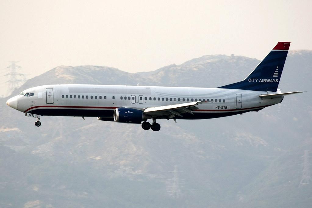 City Airways | Boeing 737-400 | HS-GTB | basic US Airways
