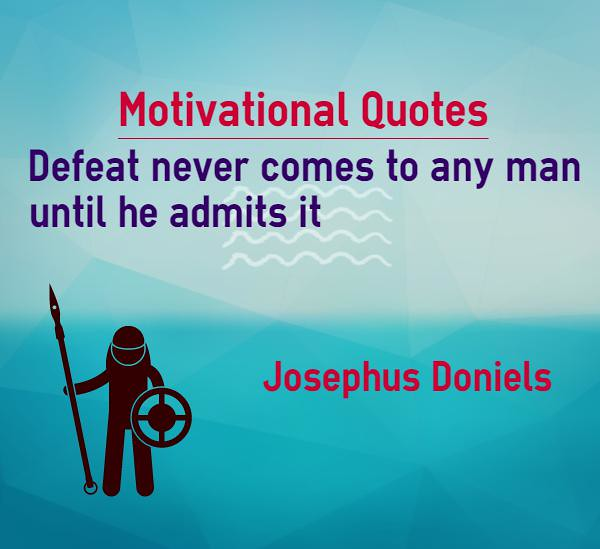 Motivational Quotes For Athletes Defeat Never Comes Until Flickr