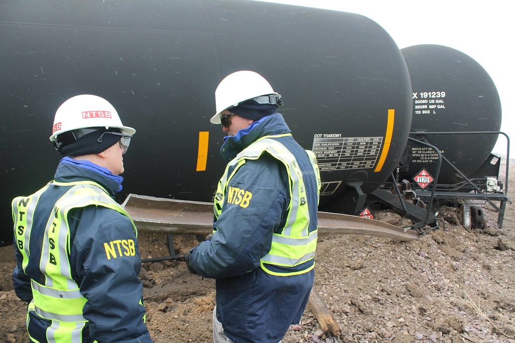 Graettinger, Iowa UP freight train derailment investigatio