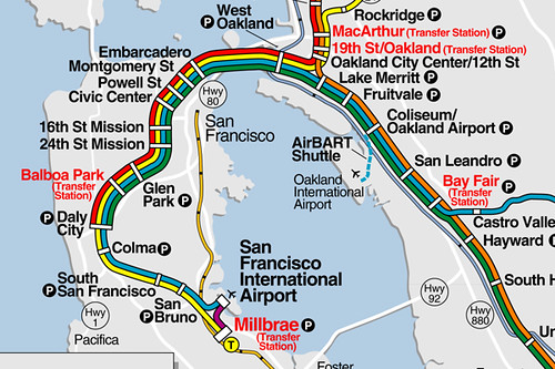 New SF BART stations, June 21, 2003   The updated map with t ... Map Bart Stations on pittsburg bay point bart map, bart schedule and fees, bart area map, bart schedule planner, bart transport map, hayward bart map, bart bay area, bart travel map, muni subway map, bart map streets, bart system map, bart airport map, east bay bart map, bart stations schedules, tanforan mall map, bart sf, bart schedule & map, bart routes and schedules, bart fares, bart route map,