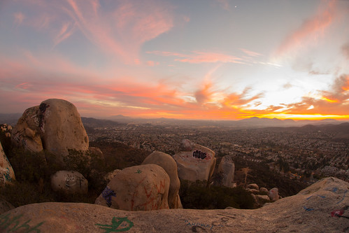 california sunset mountain unitedstates santee bluerock
