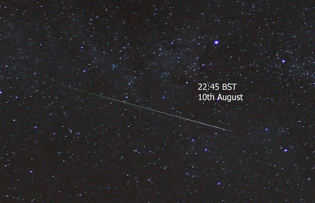 Perseid Meteor 22:45 BST 10/08/15 (Explored)