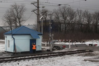 All clear from this Russian level crossing gatekeeper in the village of Сенцово (Sentsovo)   by Marcus Wong from Geelong
