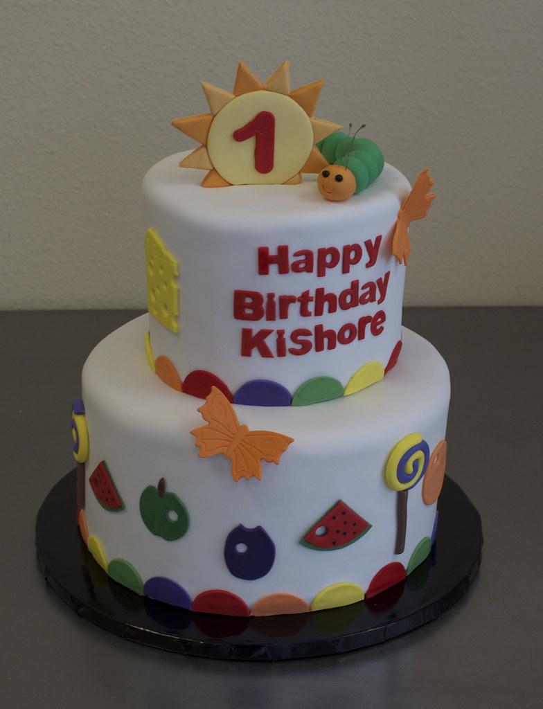 Phenomenal Hungry Caterpillar Birthday Cake Chocolate Cake With Choco Flickr Personalised Birthday Cards Veneteletsinfo