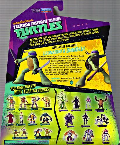 Nickelodeon  TEENAGE MUTANT NINJA TURTLES :: NINJAS in TRAINING, LEONARDO & DONATELLO ..card backer  (( 2013 )) by tOkKa