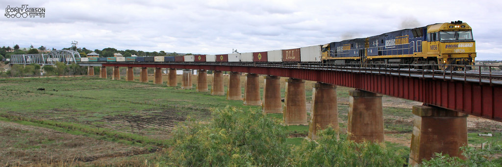 NR56 heads the 4PM6 at Murray Bridge by Corey Gibson