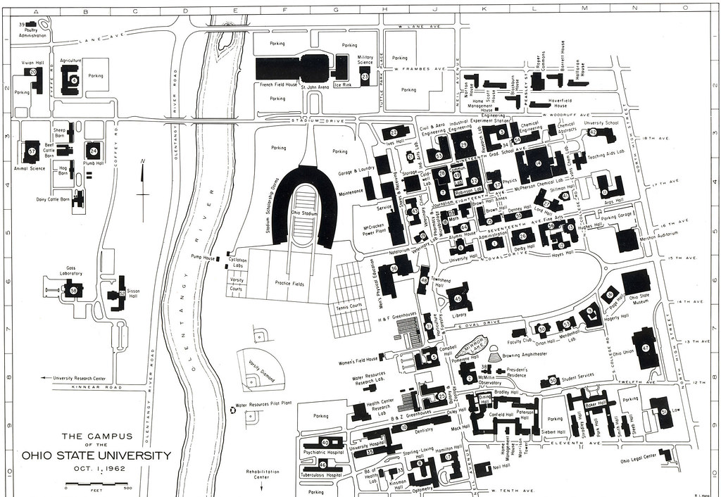 osu columbus campus map 1962 Campus Map The Ohio State University Archives Flickr osu columbus campus map