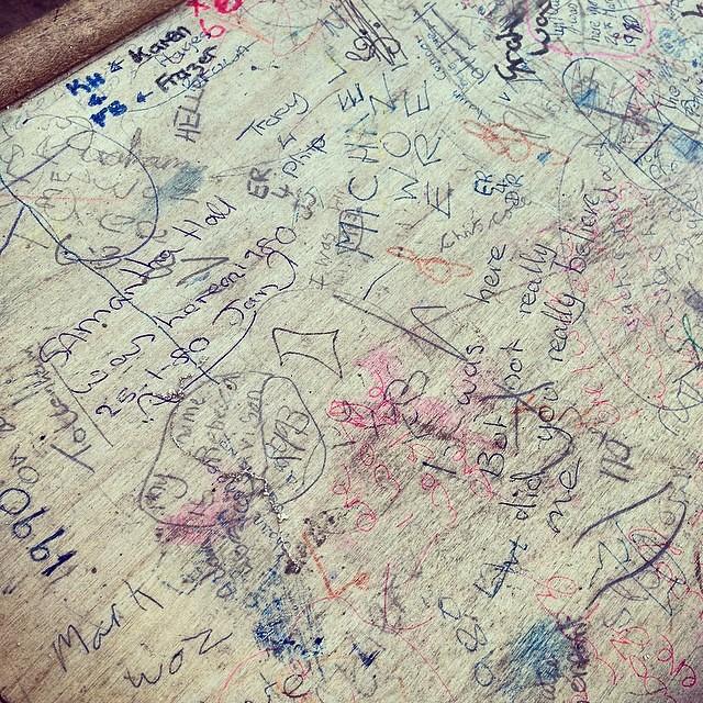 50 years of school desk graffiti... | Sheriff of Nothing ...