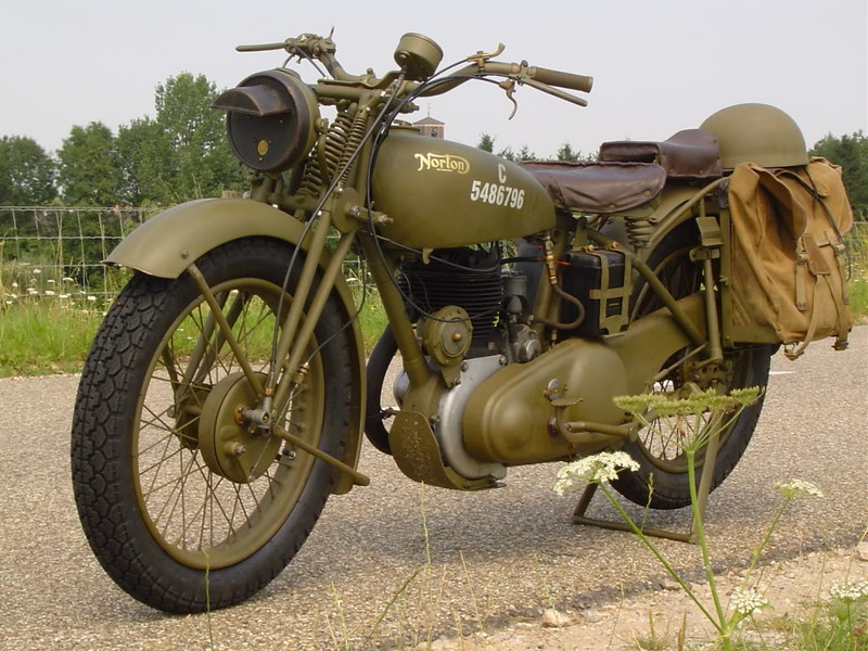 Fully restored British Army WWII Norton 16H