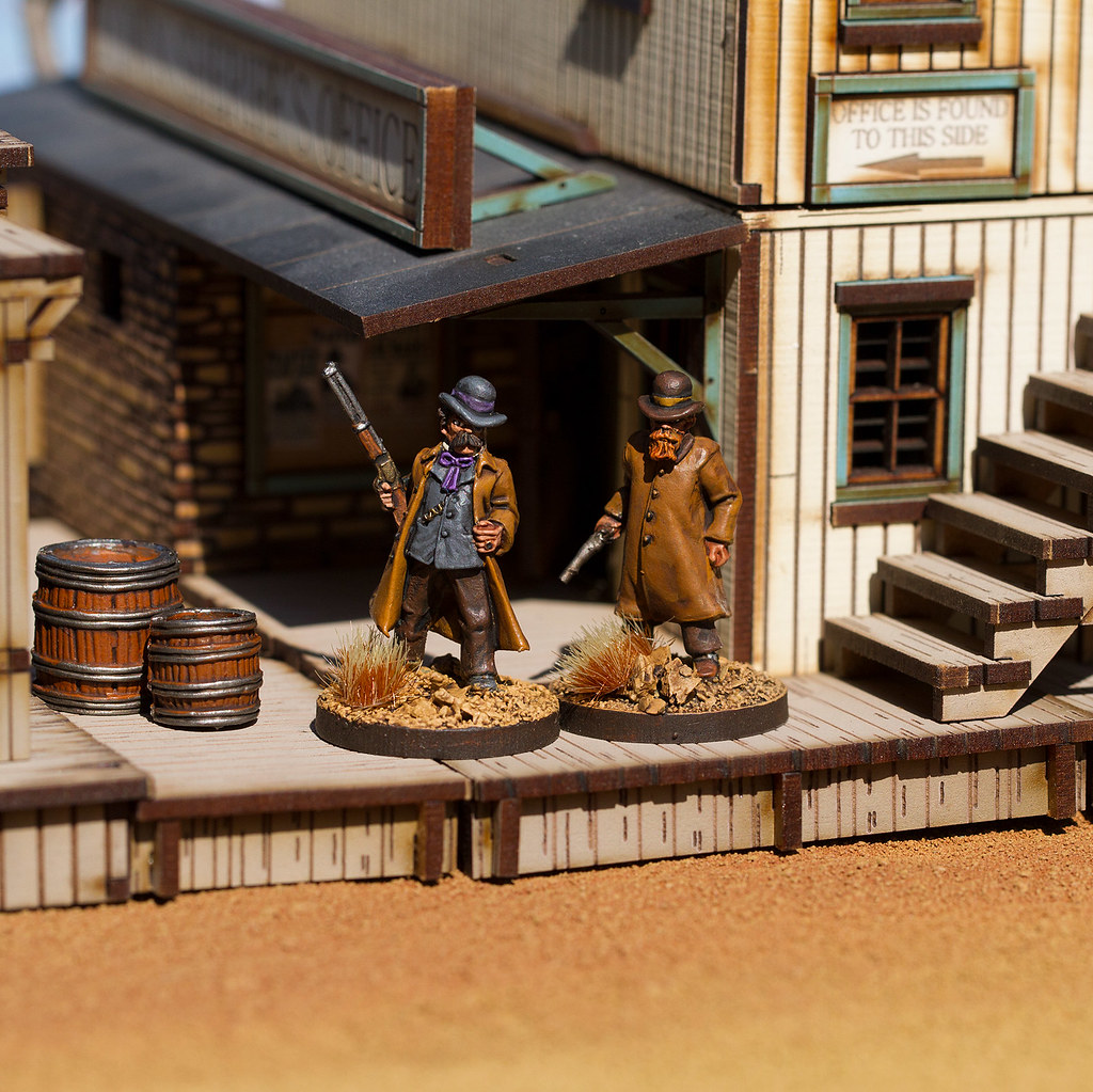The Pinkertons are in Town   | Pinkerton wild west miniature