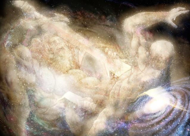 Vie, 06/28/2013 - 20:35 - Crónica de los tiempos que no fueron. Avjaal y Namak luchan por definir lo que será la realidad, creando con ello el universo y la cosmogonía vigente; El Tiempo, La Vida y La Destrucción.