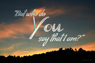 """""""Who do you say that I am?"""" ~ digital paint effect 