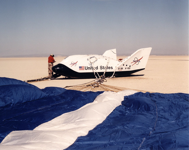 X-38 Lakebed Touchdown