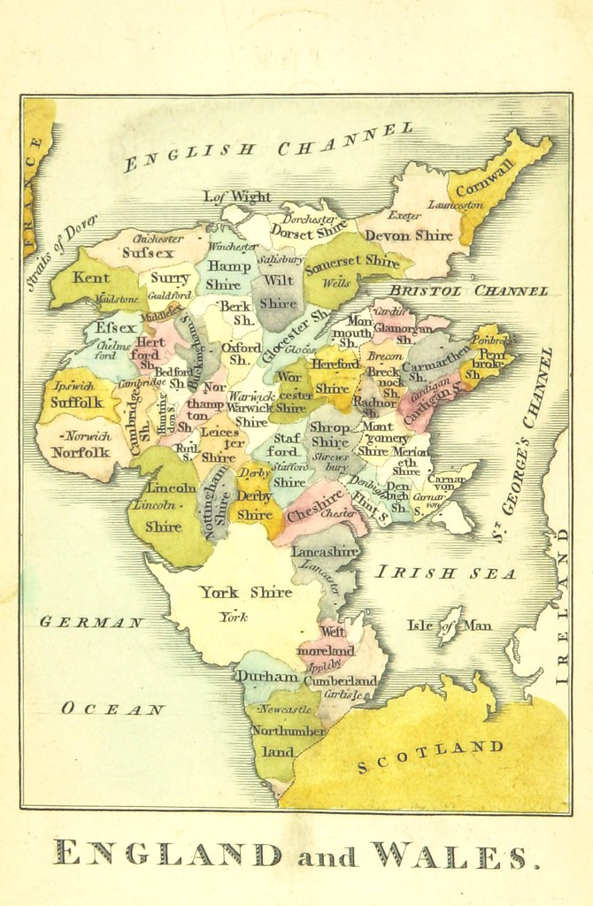 Map Of England To Colour.Image Taken From Page 10 Of The Picture Of England Illus Flickr