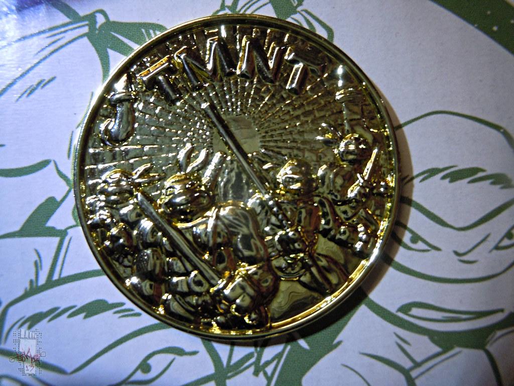 'ADVENTURERS' TEENAGE MUTANT NINJA TURTLES :: ARCTIC DONATELLO // .. Gold Metalized Kowabunga Collector Coin i  (( 1995 )) by tOkKa