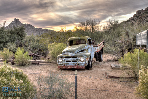 auto arizona mountain southwest truck fence desert peak scottsdale wreck hdr pinnaclepeak greasewood greasewoodflats reatapass jhaskellus jhaskell jackhaskell jackhaskellphotography