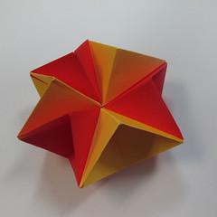 วิธีการพับกระดาษเป็นดาวหกแฉกแบบโมดูล่า 022