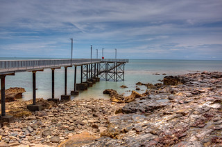 Who pulled out the plug? - Nightcliff Jetty at extreme low tide - Photomatix HDR | by Geoff Whalan