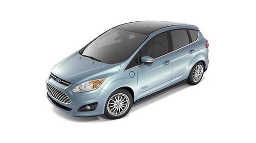 The 2013 Ford C-Max Energi is an example of a plug-in hybrid that can get 100 mpg on short trips and Photo