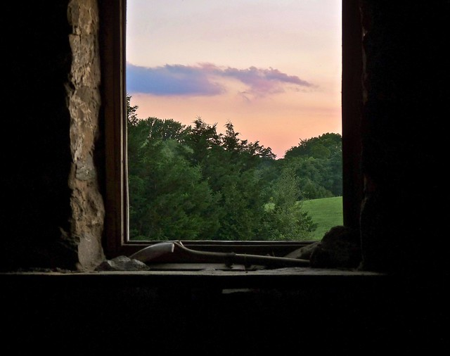 twilight, from the barn