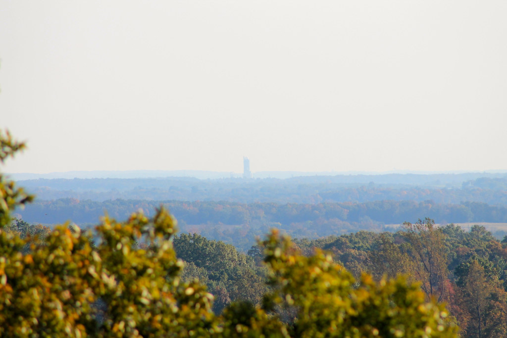 Lehigh Cement Plant tower (Union Bridge, MD), as seen from