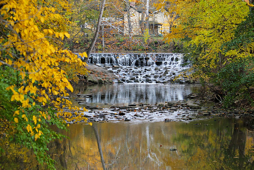 autumn fall waterfall stream