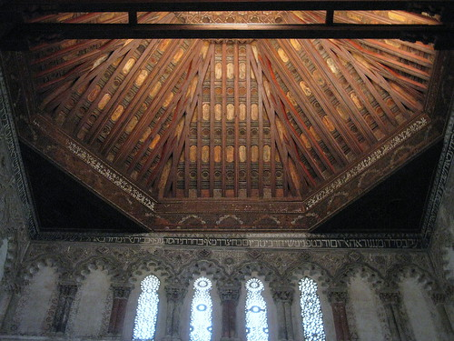 The Mudéjar panelled ceiling, Sinagoga del Tránsito, Toledo, Spain | by Spencer Means