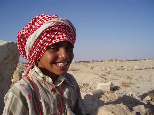 Niño sirio en Palmira (Siria)