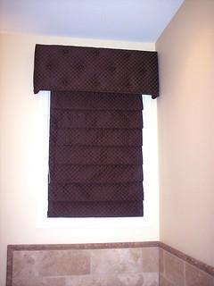 Roman Shade an Upholstered Cornice