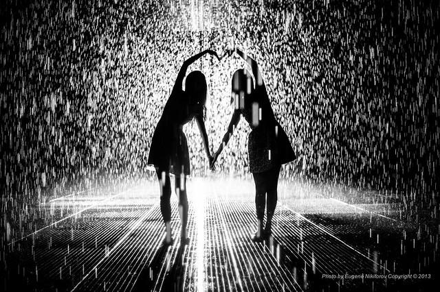 Together, Rain Room  installation by Random International, MOMA