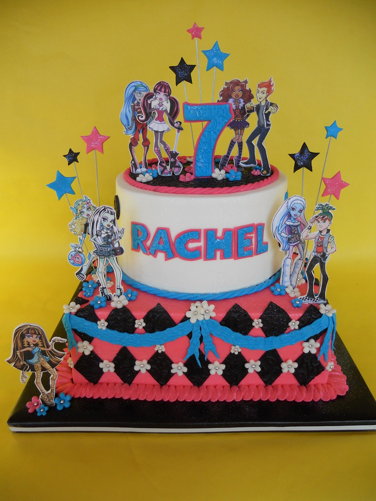 Admirable Monster High Birthday Cake Amy Stella Flickr Funny Birthday Cards Online Fluifree Goldxyz