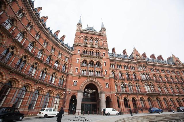 Exterior of St. Pancras Renaissance London Hotel