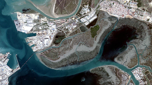 Satelite image of Cádiz Bay | by fastspaceproject