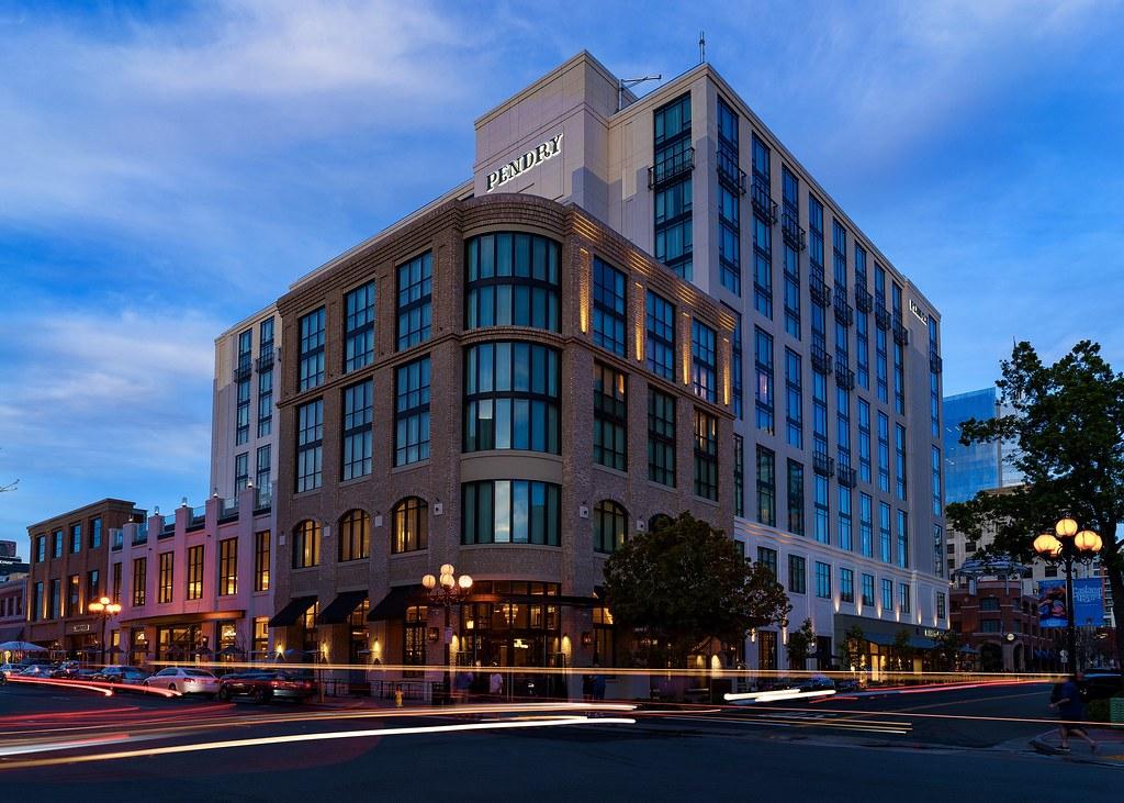 Downtown San Diego Gaslamp Quarter Pendry Hotel At Dusk Flickr