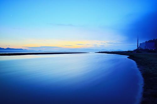 longexposure sunset sea sky beach water landscape nikon day cloudy korea busan nikkor 부산 다대포