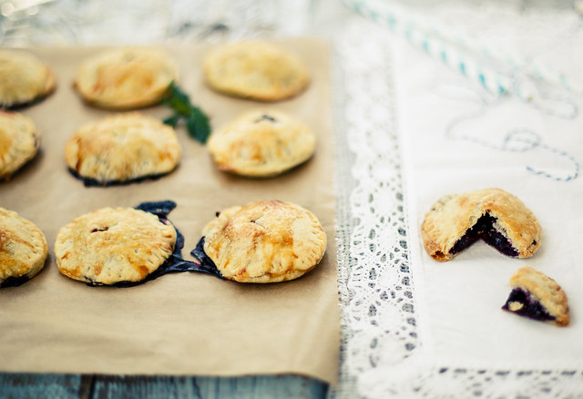 Hand pies with blueberries